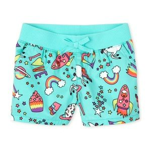 NWT Children's Place Mint Pull On Pull On Shorts 4